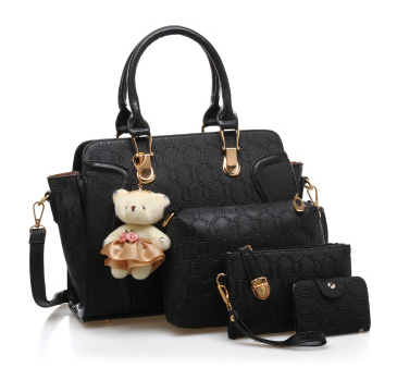 New fashion 4-piece suit PU women's handbag for ladies